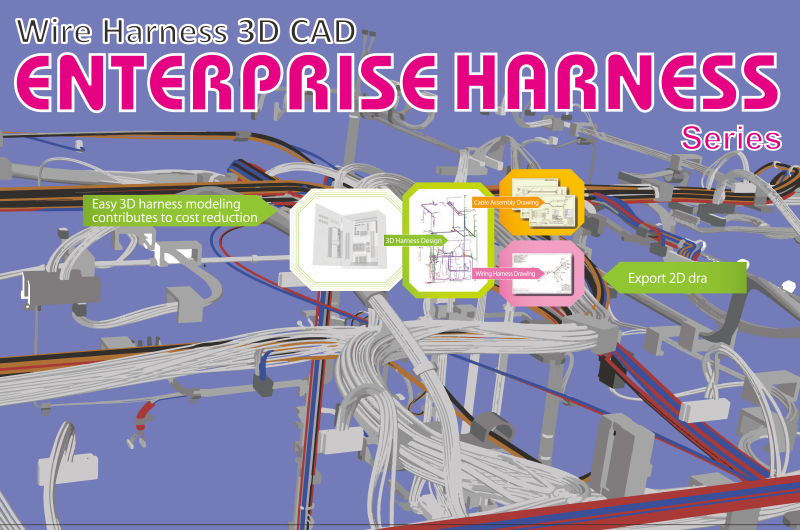 what is enterprise harness? enterprise harness is a 3d cad dedicated for wiring  design